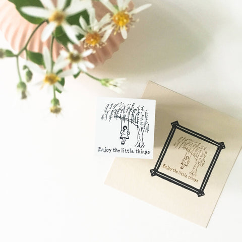 Rakui Hana x niconeco zakkaya Collaboration Stamp - Enjoy the little things-niconeco zakkaya