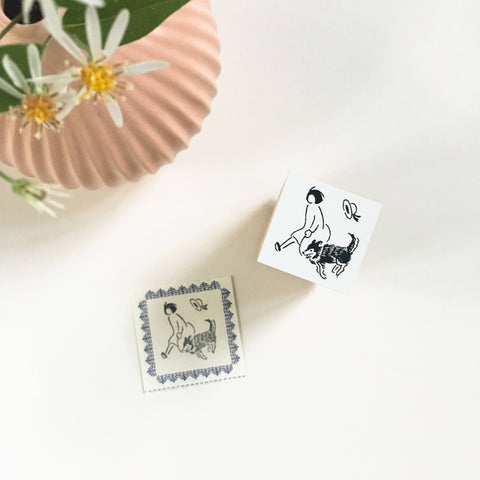 Rakui Hana x niconeco zakkaya Collaboration Stamp - Take a walking-niconeco zakkaya