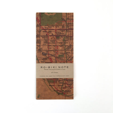 Ro-Biki Wax Cover Notebook - New York Metro Map-niconeco zakkaya
