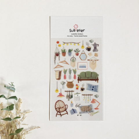 SAUTELIER Home Sweet Home Clear Sticker (1075)-niconeco zakkaya