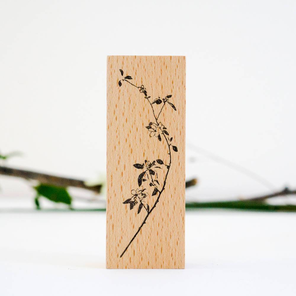 SJ Original Botanical Stamp - Cherry blossom branch (large)-niconeco zakkaya