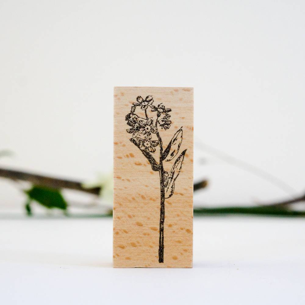 SJ Original Botanical Stamp - Forget-me-not Flower-niconeco zakkaya