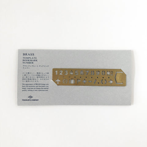TRC Brass Template Ruler - Number-niconeco zakkaya
