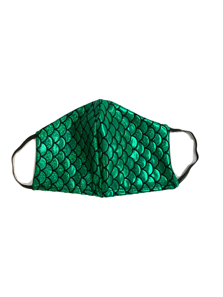 Green Mermaid Face Mask
