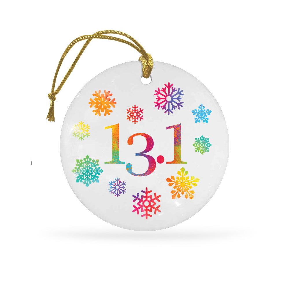 13.1 Snowflakes Ceramic Holiday Ornament