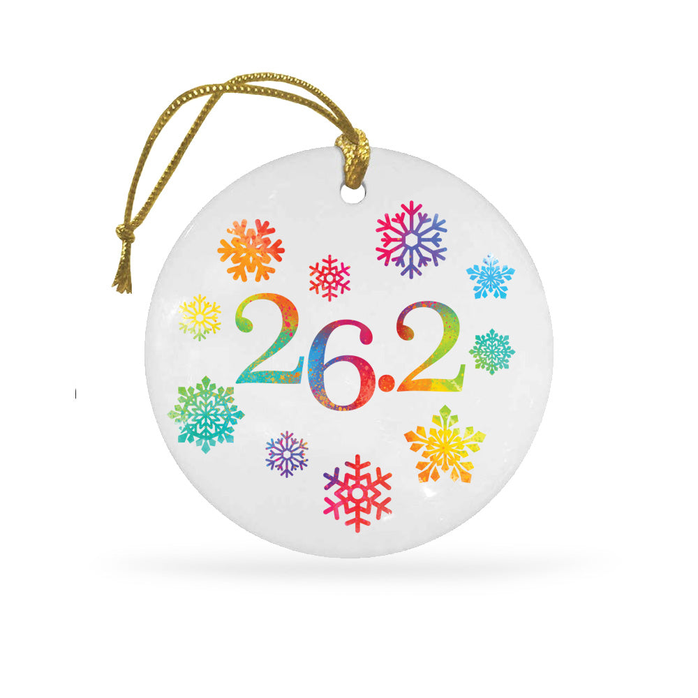26.2 Snowflakes Ceramic Holiday Ornament