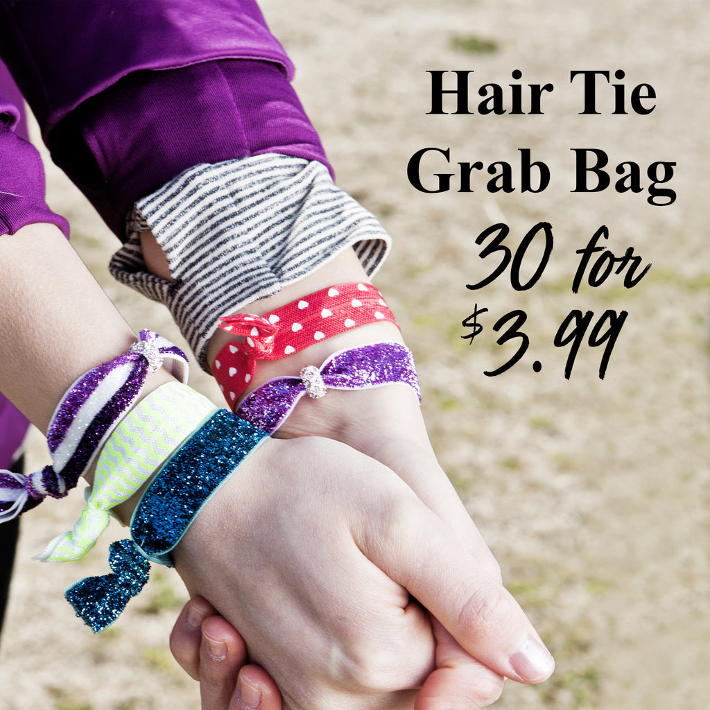 Sparkle Hairtie Grab Bag 30 Hairties for $3.99