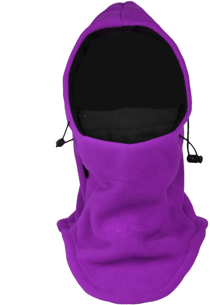 Purple Fleece Hooded Balaclava
