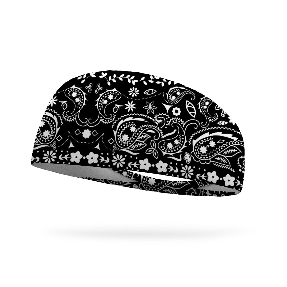 Bandana Black Performance Wicking Headband