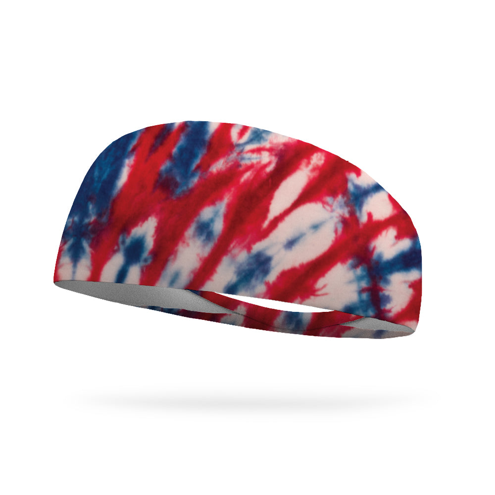 Tie Dye Americana Performance Wicking Headband