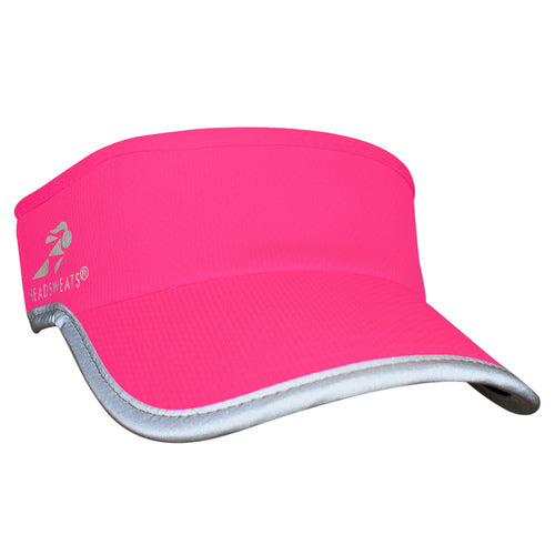 Neon Pink Reflective Visor (Add Button for Face Mask ($2.00)