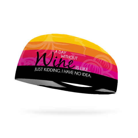 Everything Happens for a Riesling Wicking Performance Headband