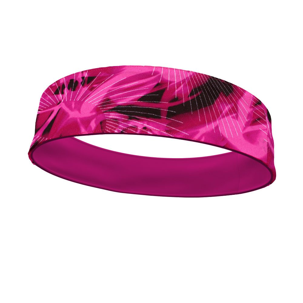 Rays of Fuschia Fashion and Hot Pink Wicking Reversible Headband