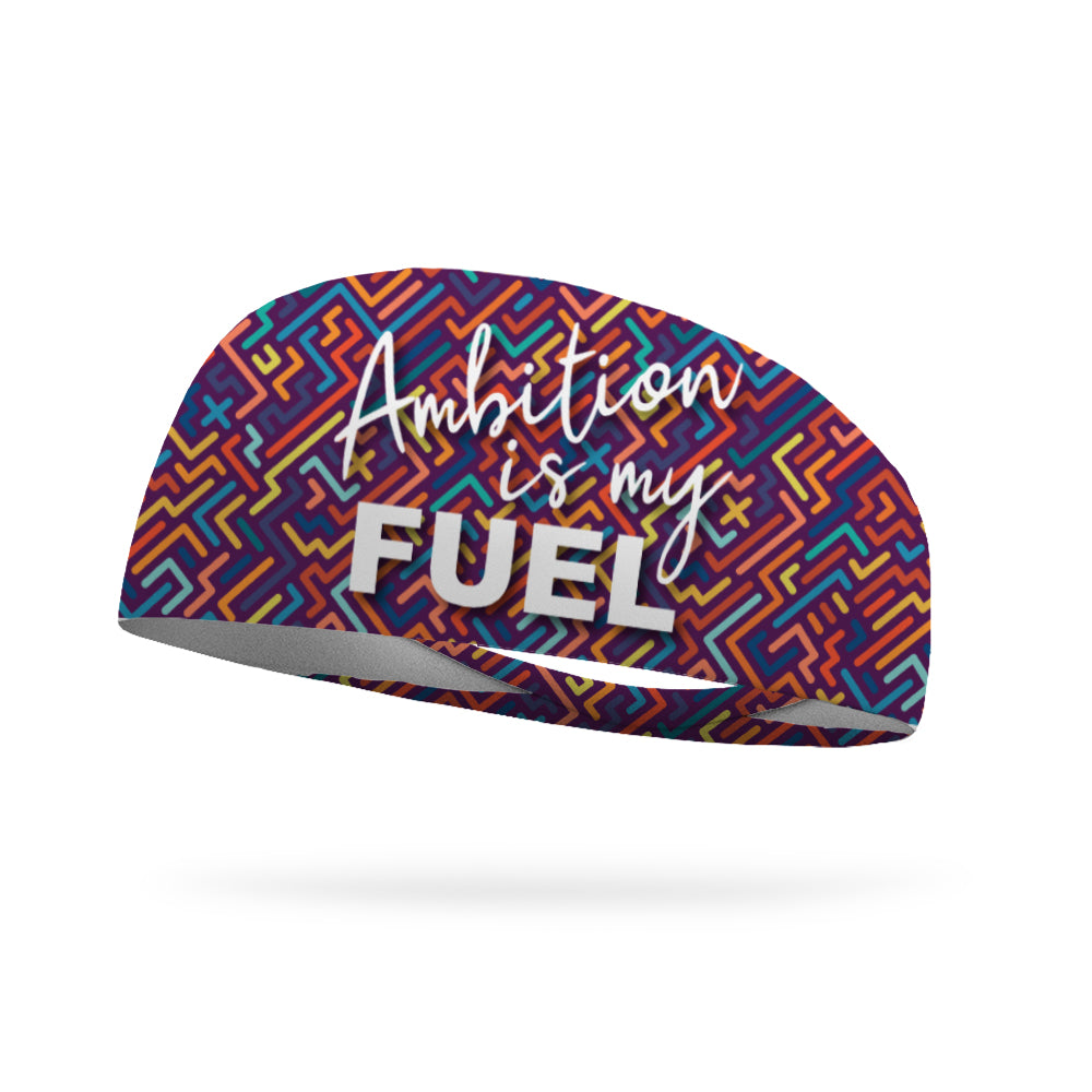 Ambition is My Fuel Wicking Performance Headband