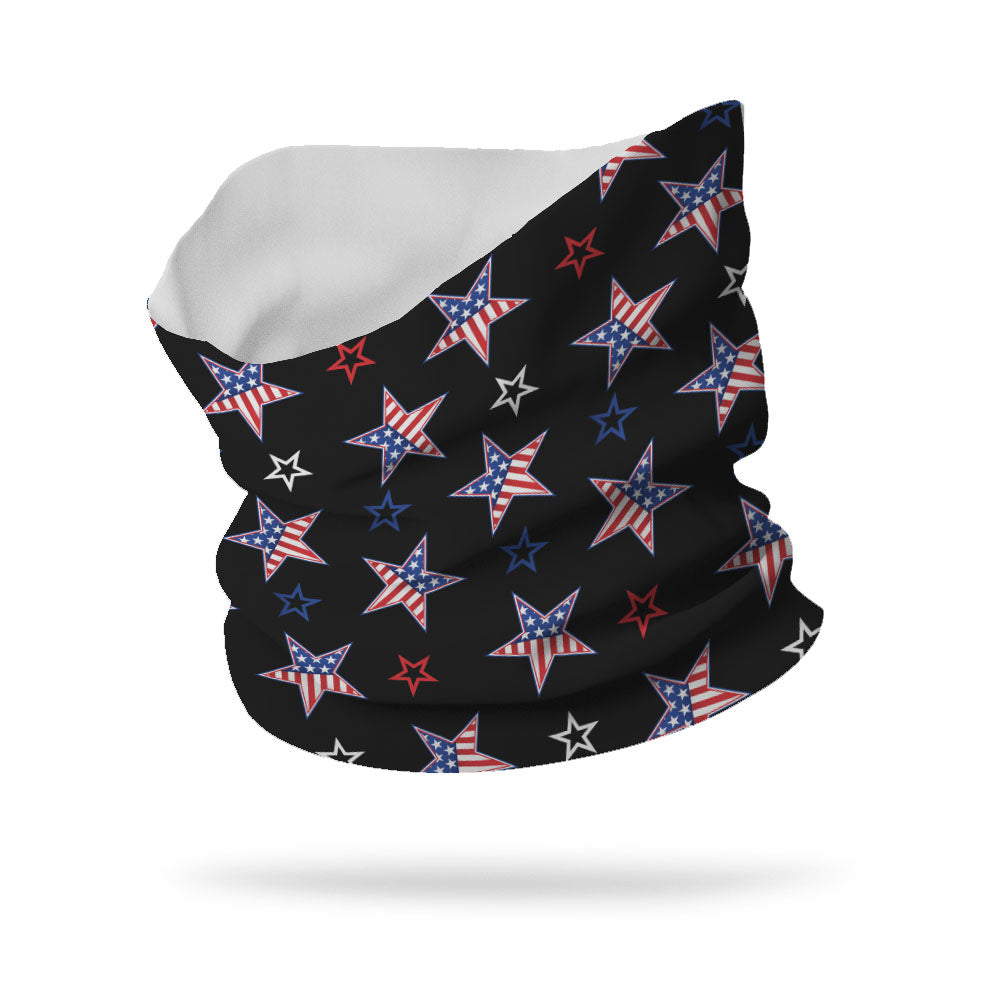 Lycra American Stars and Stripes Neck Gaiter