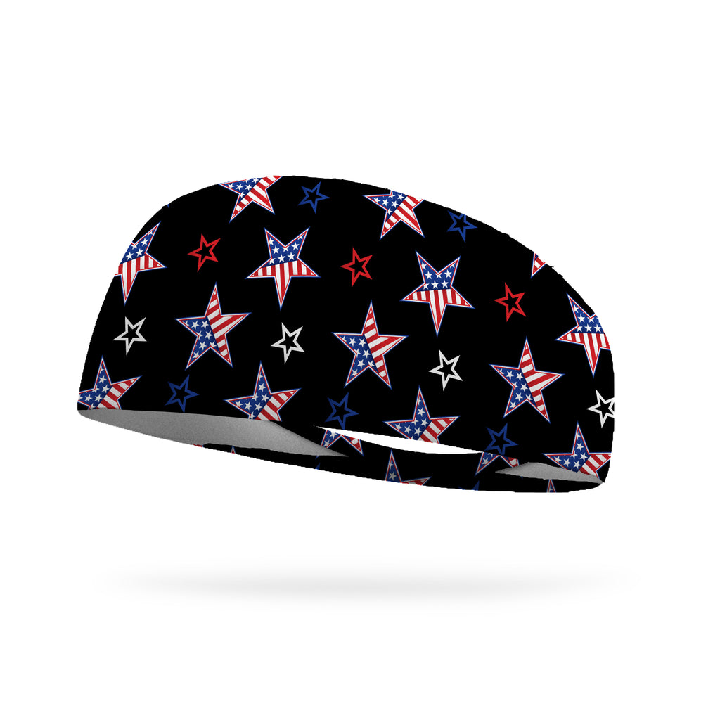 American Stars and Stripes Wicking Performance Headband