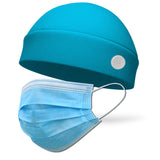 Solid Color Regular Wicking Hat with Buttons to Loop Medical Face Mask (Mask Not Included)