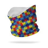 Lycra Puzzle Pieces Autism Awareness Neck Gaiter (12