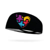 Autism Heart of Love Autism Awareness Wicking Headband