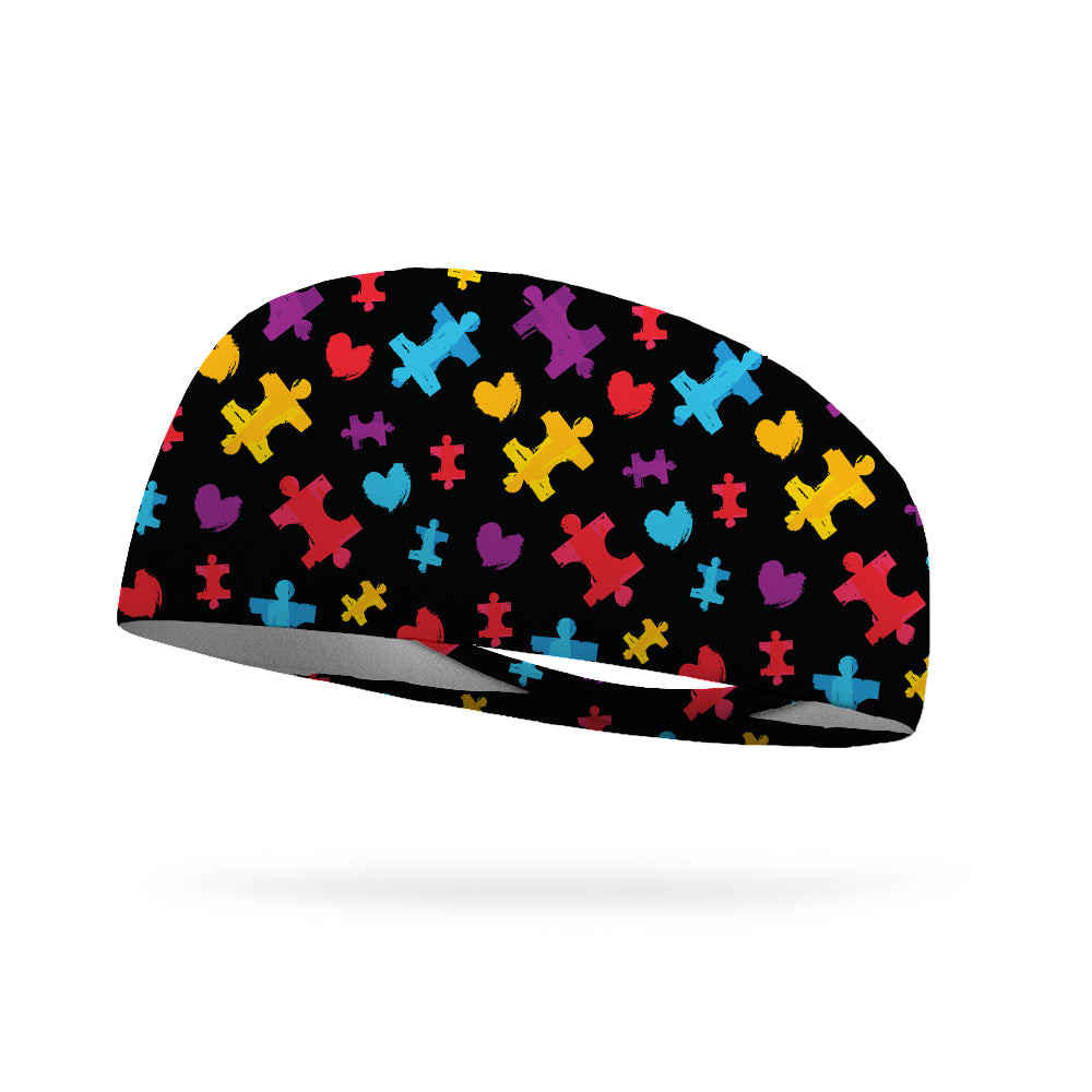 Autism Puzzle Love Autism Awareness Wicking Headband