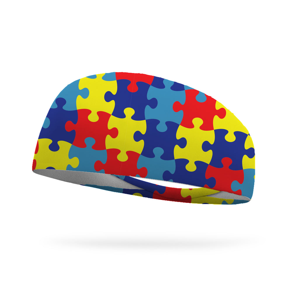 Puzzle Pieces, Autism Awareness Wicking Headband