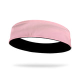 Baby Pink and Black Wicking Reversible Headband