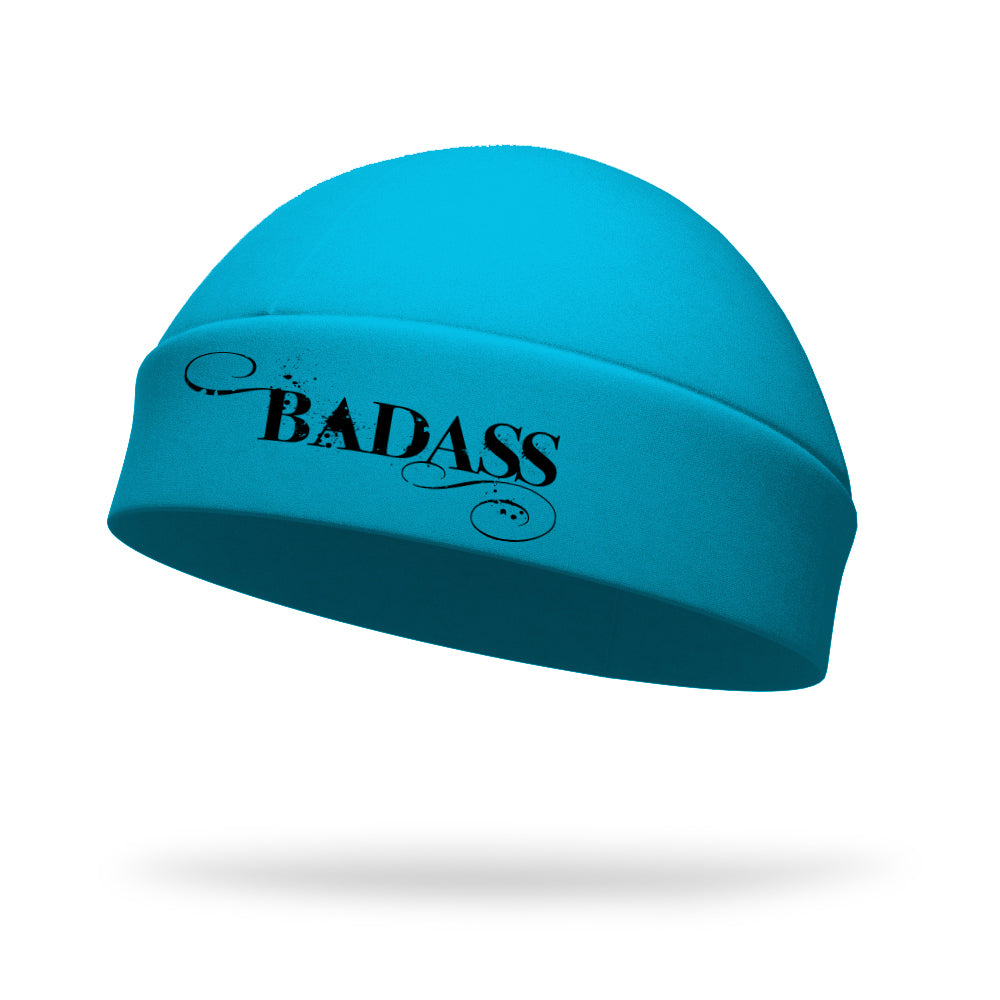 Badass Wicking Ponytail Hat - Black Logo