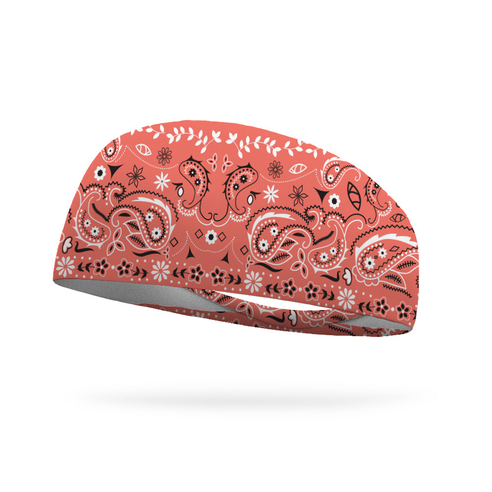 Coral Bandana Performance Wicking Headband