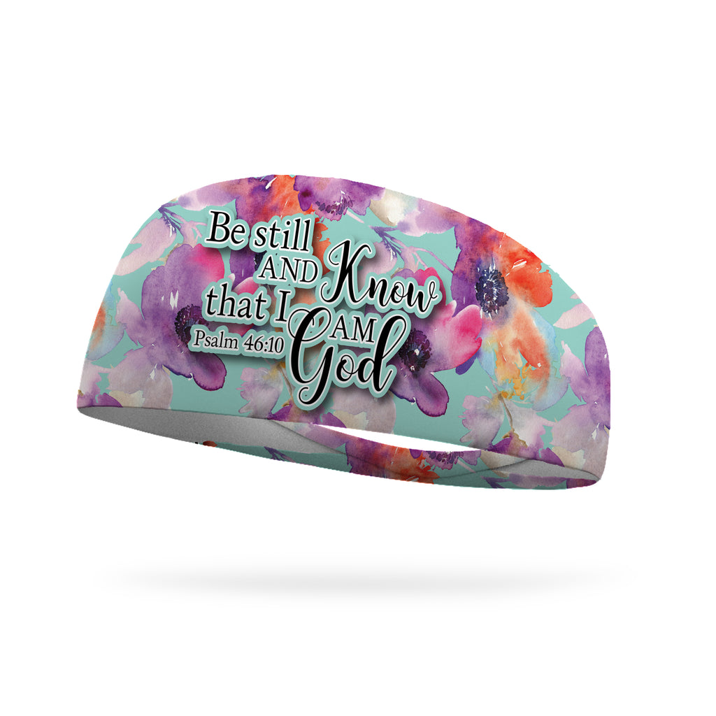 Be Still And Know I Am God Wicking Performance Headband