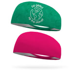 Combo 1 Be Good to the Planet, 1 Solid Hot Pink Wicking Headband