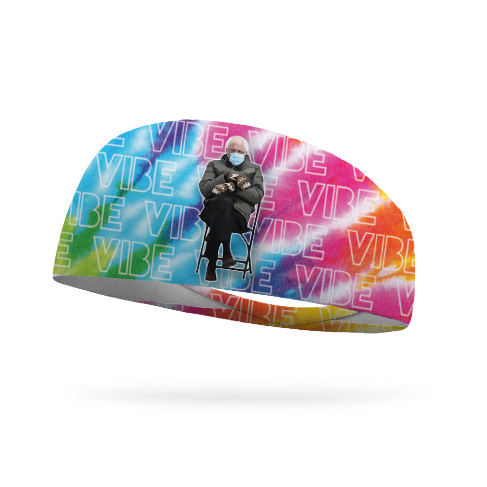 Bernie Vibe Tie Dye Wicking Headband