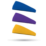 Black History Month Combo 1 Solid Royal, 1 Solid Purple and 1 Solid Athletic Yellow Wicking Headband