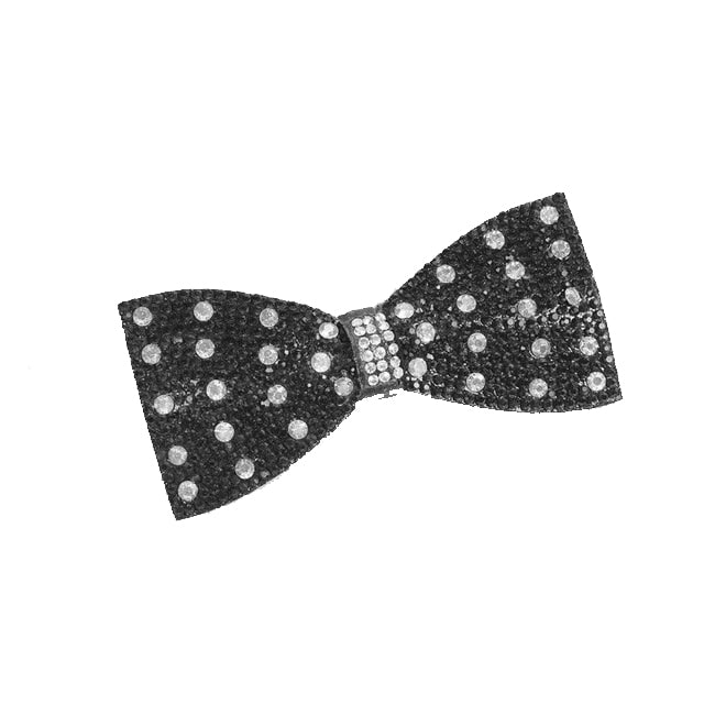 Black Polka Dot Clip-On Bling (Clip only headband not included)