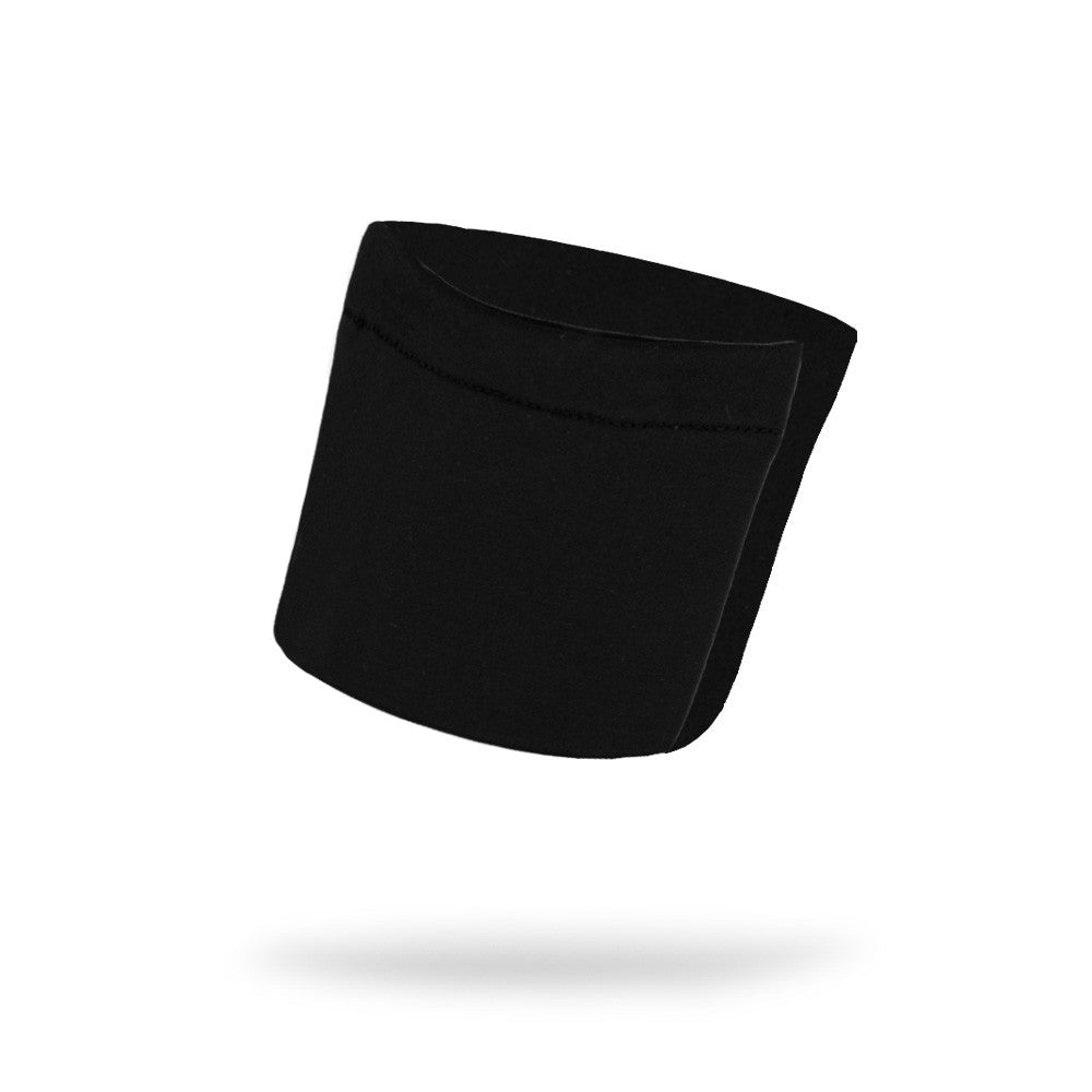 Black Solid Wicking Wristband - Bondi Band