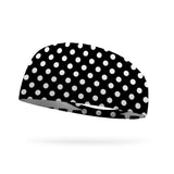 Black and White Dots Wicking Performance Headband