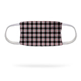 Black and Red Plaid Uniform Face Mask