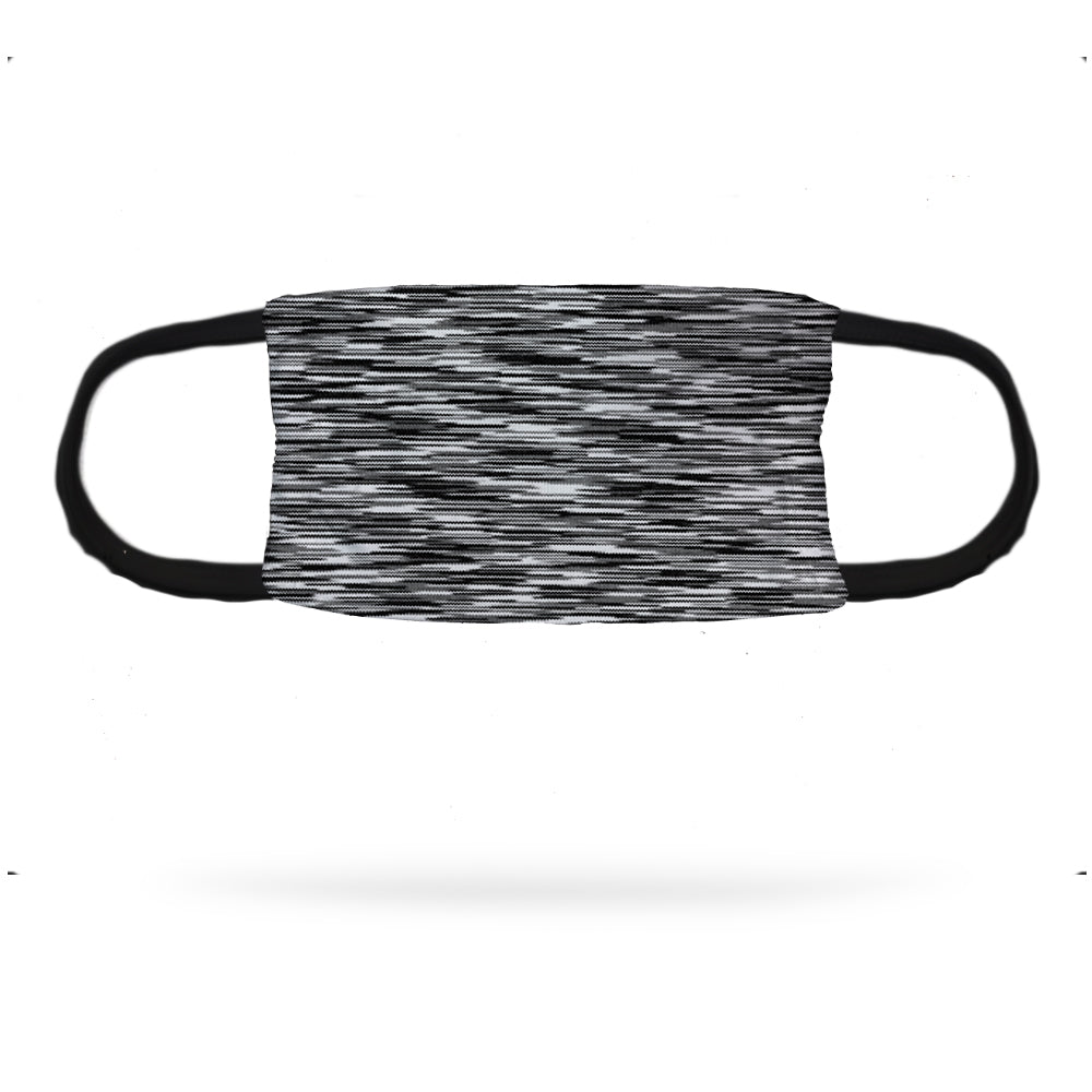 Static Black and White Face Mask