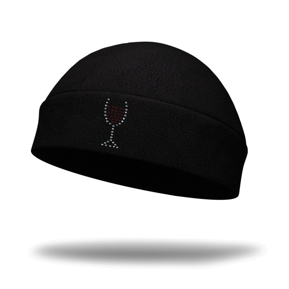 Bling Wine Glass Wicking Ponytail Hat - Bondi Band