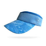 Light Blue Swirl Visor (Add Buttons for Face Mask $2.00)