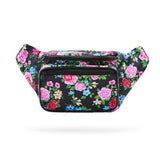 Botanical Black Fashion Fanny Pack