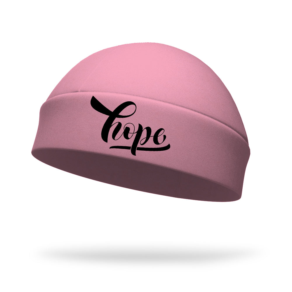 Breast Cancer Hope Wicking Regular Hat - Black Logo