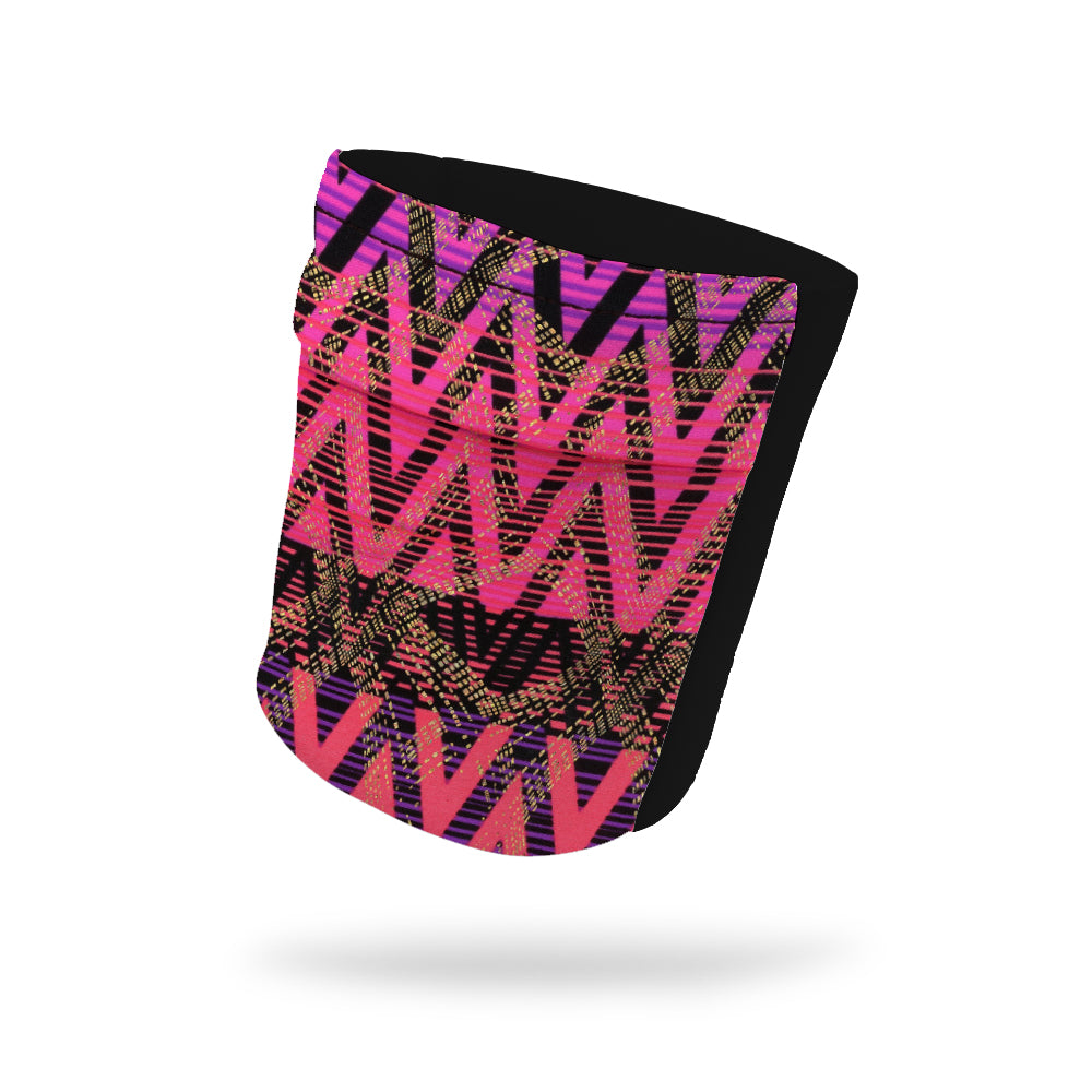 "Bright Geometric Lines Fashion and Black Wicking Armband 6.22"" Height"