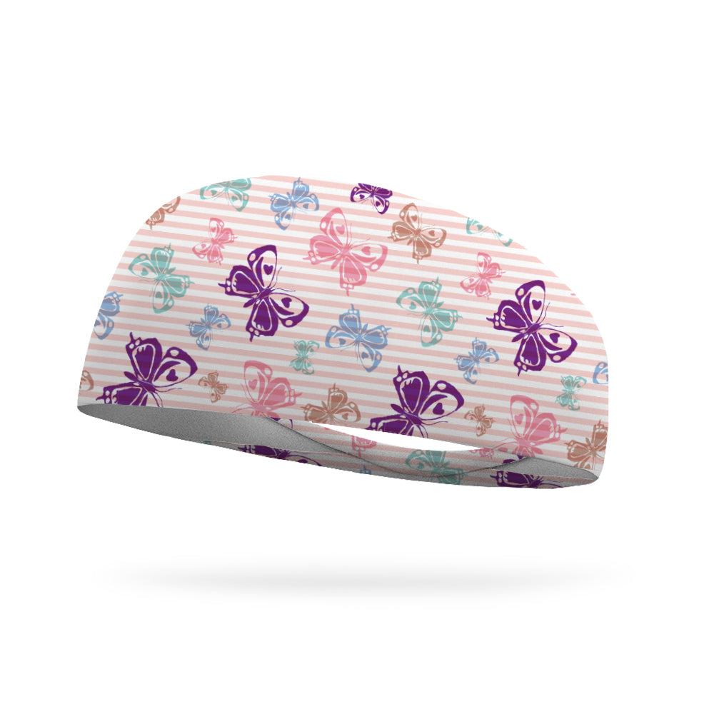 Butterfly Stripes Wicking Performance Headband