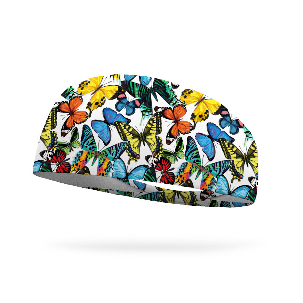 Butterfly Garden Performance Wicking Headband
