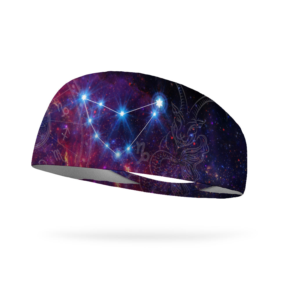 Zodiac Capricorn Performance Wicking Headband