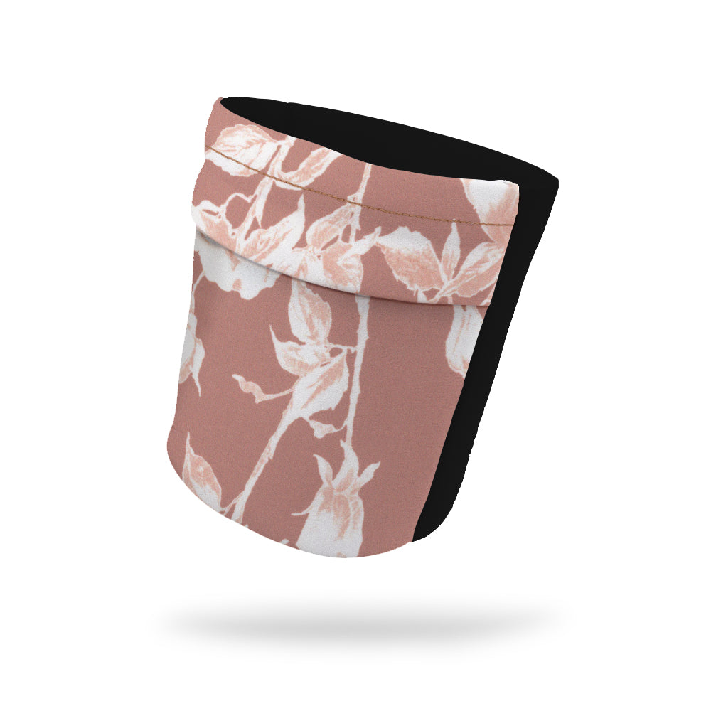 "Champagne Floral Fashion and Black Wicking Armband 6.22"" Height"
