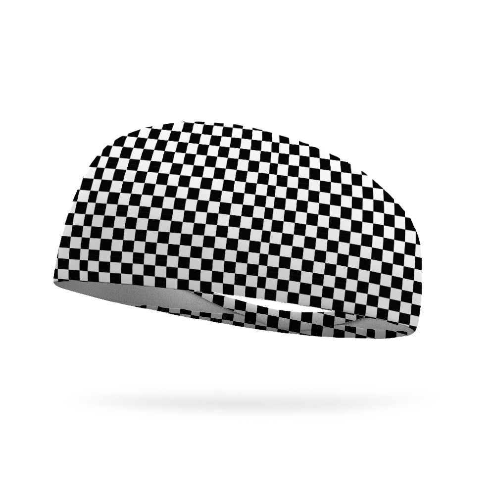 Finish Line Checkers Wicking Performance Headband