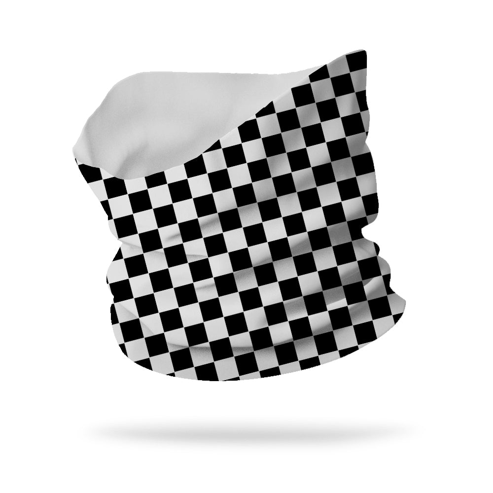 "Lycra Checkers Neck Gaiter (12"" length)"