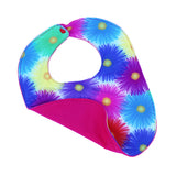 Colorful Daisies Reversible Wicki Bib