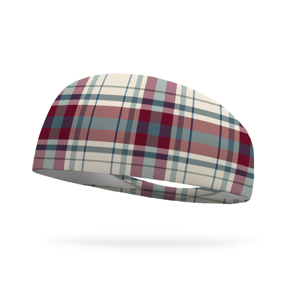 Cozy Winter Plaid Wicking Performance Headband